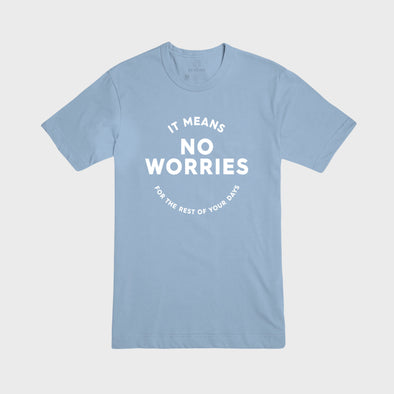 NO WORRIES | Tee | Baby Blue