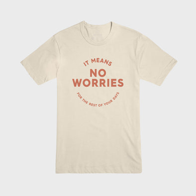NO WORRIES | Tee | Cream
