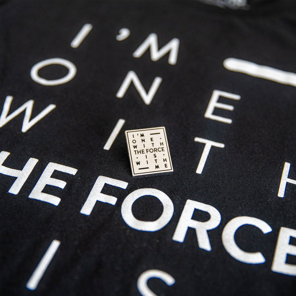 THE FORCE | Black Tee & Silver Pin Bundle