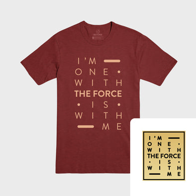 THE FORCE | Cardinal Tee & Gold Pin Bundle