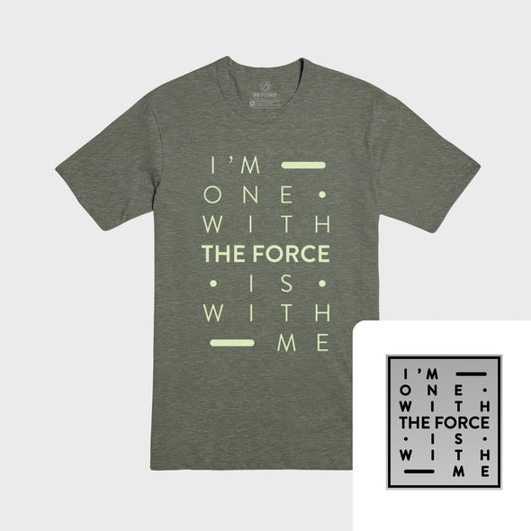 THE FORCE | Olive Tee & Silver Pin Bundle