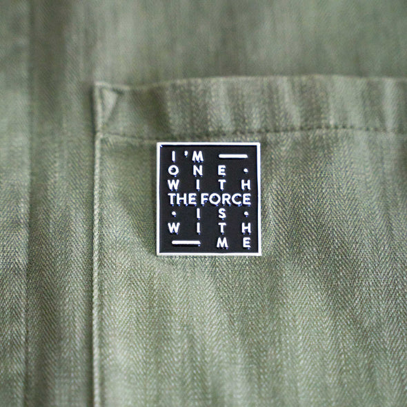 THE FORCE | Pin | Black & Silver