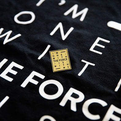 THE FORCE | Black Tee & Gold Pin Bundle