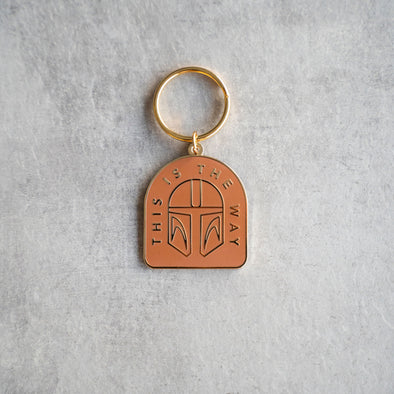 THIS IS THE WAY | Keychain | Gold