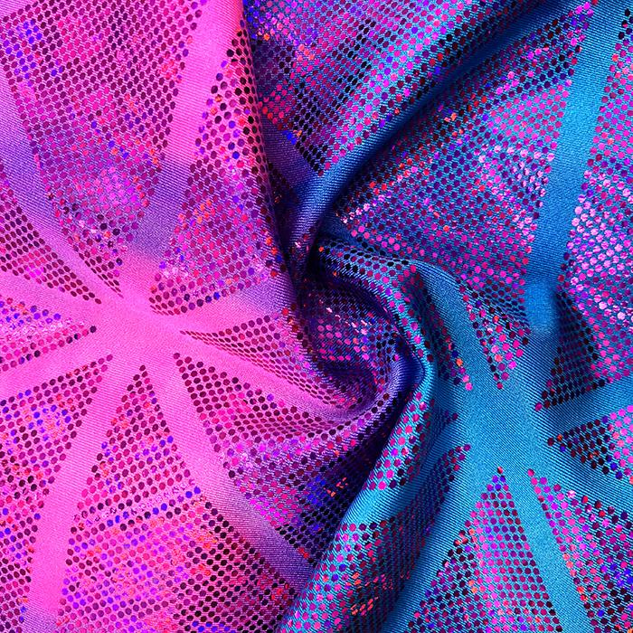 The Dye Square Hologram-4-Turquoise-pink Spandex, Printed Spandex- Spandexbyyard - fabrics, fabric for swimwear, fabric for yogawear, swimwear fabric, yogawear fabric, fabric sublimation, sublimation fabric, los angeles, california, usa, spandex, sale, swimwear, yoga wear, lycra, shiny, neon, printed, fabric by the yard, spandex lycra, nylon lycra, lycra fabric