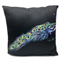 Throw Pillow Case Cover Peacock Pillow- Spandexbyyard - fabrics, fabric for swimwear, fabric for yogawear, swimwear fabric, yogawear fabric, fabric sublimation, sublimation fabric, los angeles, california, usa, spandex, sale, swimwear, yoga wear, lycra, shiny, neon, printed, fabric by the yard, spandex lycra, nylon lycra, lycra fabric