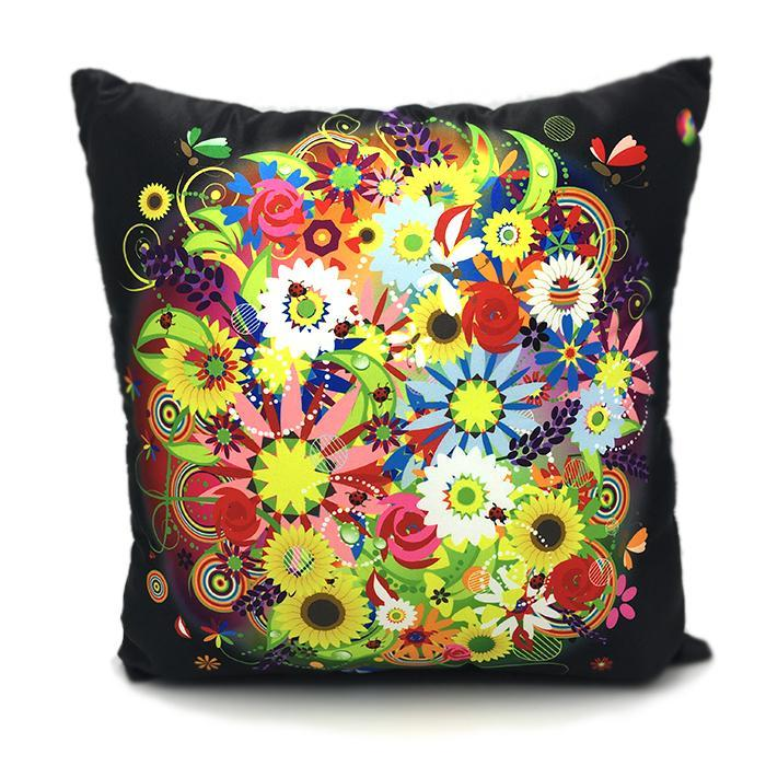 Throw Pillow Case Cover Heaven Flowers Pillow- Spandexbyyard - fabrics, fabric for swimwear, fabric for yogawear, swimwear fabric, yogawear fabric, fabric sublimation, sublimation fabric, los angeles, california, usa, spandex, sale, swimwear, yoga wear, lycra, shiny, neon, printed, fabric by the yard, spandex lycra, nylon lycra, lycra fabric