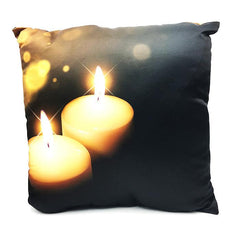 Throw Pillow Case Cover Romantic Candle Night Pillow- Spandexbyyard