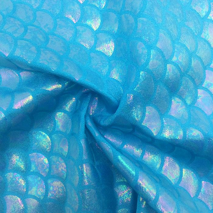 SP-Mermaid 101 Spandex Tricot with Rainbow clear shell