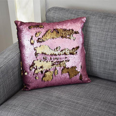 Magic Mermaid Sequin Home Decorative Throw Pillow Cover 18