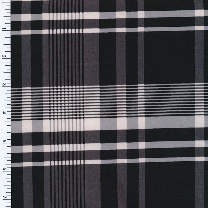 Plaid Spandex-Blk-White | checker, plaid |  Printed Spandex | Swimwear Print | Sportek| four Way Stretch | Active Wear |Sportswear | Yoga wear Print | Legging wear Print Spandex, Printed Spandex- Spandexbyyard - fabrics, fabric for swimwear, fabric for yogawear, swimwear fabric, yogawear fabric, fabric sublimation, sublimation fabric, los angeles, california, usa, spandex, sale, swimwear, yoga wear, lycra, shiny, neon, printed, fabric by the yard, spandex lycra, nylon lycra, lycra fabric