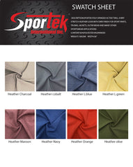 SP-106 Sportek Poly-spandex active twill 4 way stretch heather look with DWR finish