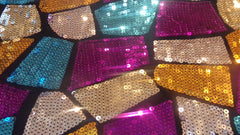 Multi-patch Sequins simple- Spandexbyyard - fabrics, fabric for swimwear, fabric for yogawear, swimwear fabric, yogawear fabric, fabric sublimation, sublimation fabric, los angeles, california, usa, spandex, sale, swimwear, yoga wear, lycra, shiny, neon, printed, fabric by the yard, spandex lycra, nylon lycra, lycra fabric