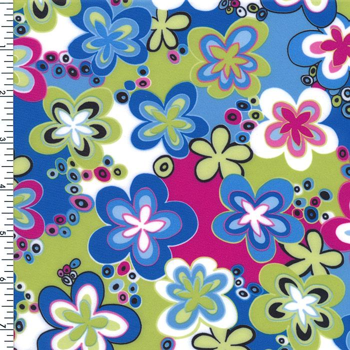 MIR239-53  Flower printed spandex | Nice fabric for swimwear, active wear, sportswear