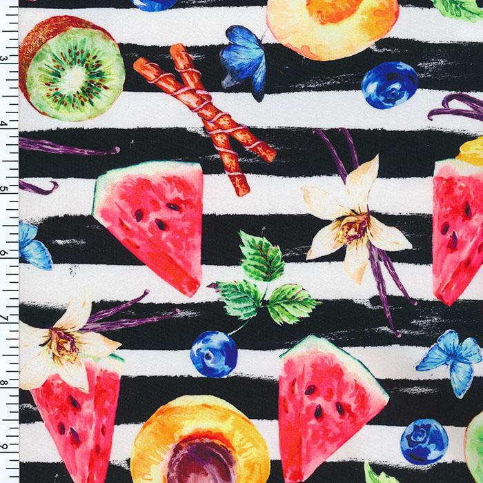 SP-NP2645  Fruity Picnic Nylon Spandex Digitally Wet Print | swimwear Print | Yoga wear Print | Legging Print Spandex, Wet Print- Spandexbyyard - fabrics, fabric for swimwear, fabric for yogawear, swimwear fabric, yogawear fabric, fabric sublimation, sublimation fabric, los angeles, california, usa, spandex, sale, swimwear, yoga wear, lycra, shiny, neon, printed, fabric by the yard, spandex lycra, nylon lycra, lycra fabric