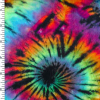 SP-NP2671 60's Tie Dye Original - Black Red Blue Green  | Nylon Spandex Digitally Wet Print