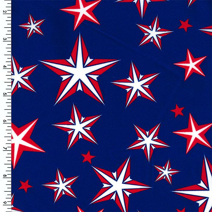 SP-NP2697 Freedom Stars Nylon Spandex Digitally Wet Print