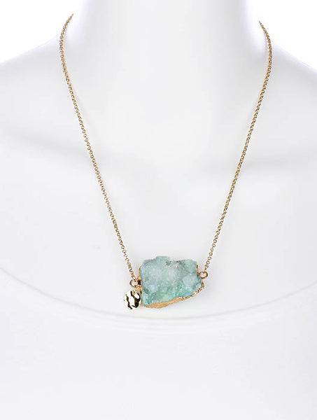 Gypsy Mint Natural Stone Druzy