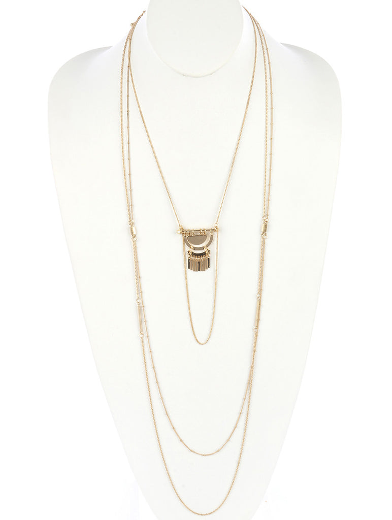 Moon Child Three Layer Chain Necklace