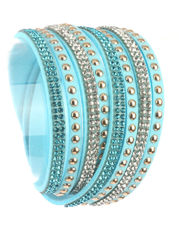 Moon Child Aqua  Wraparound Bracelet