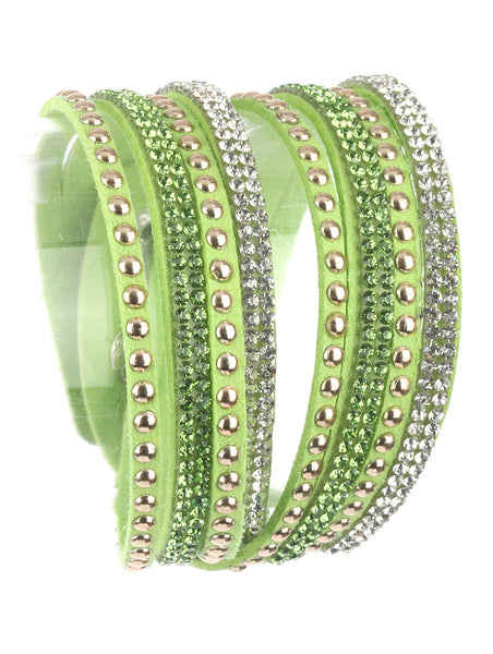 Moon Child Lime Wraparound Bracelet