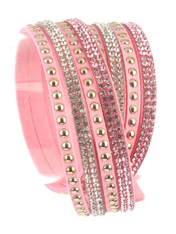 Moon Child Pink Sky Wraparound Bracelet