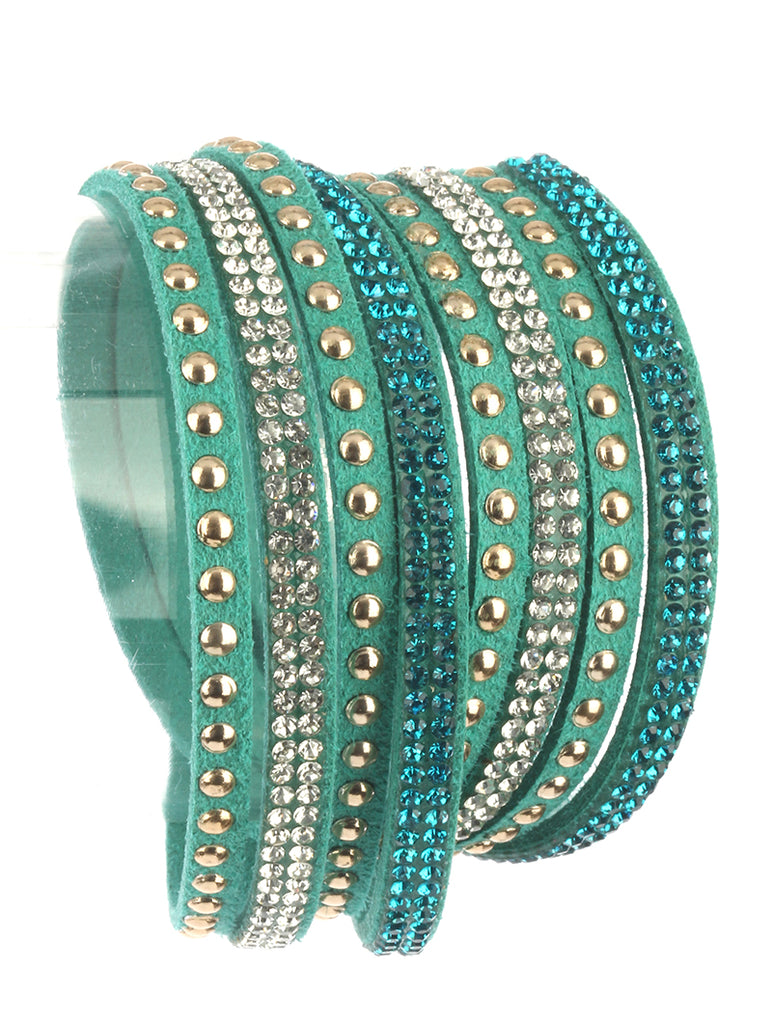 Moon Child Turquoise Wraparound Bracelet