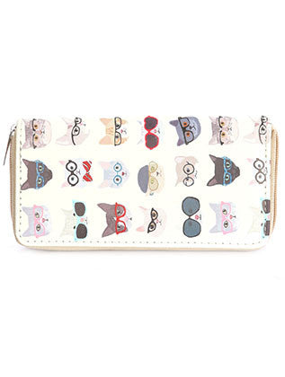 Cats With Glasses Print Clutch