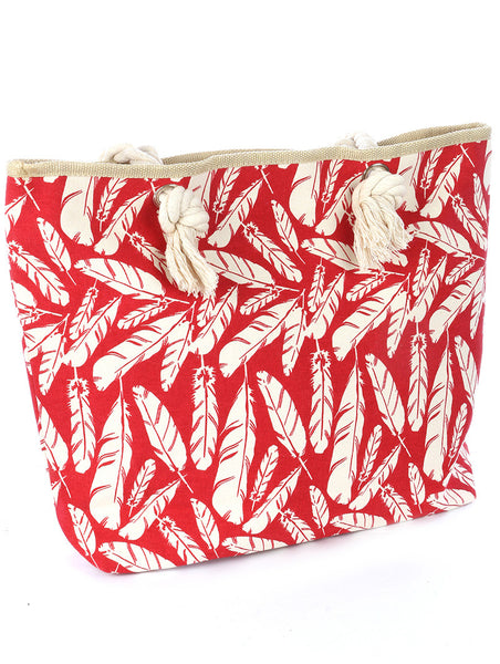 Gypsy Red Feather Tote