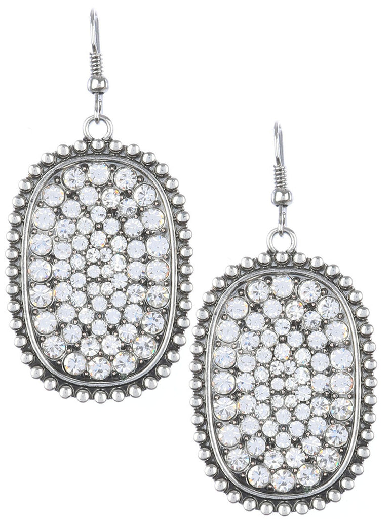 Gypsy Pave Clear Crystal Earring