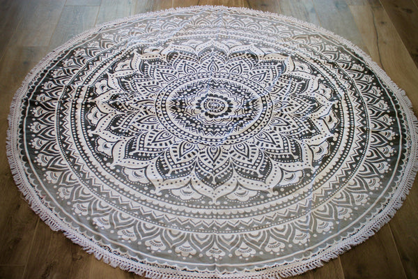 Gypsy Storm Ombre Mandala India Tapestry- Lace Round