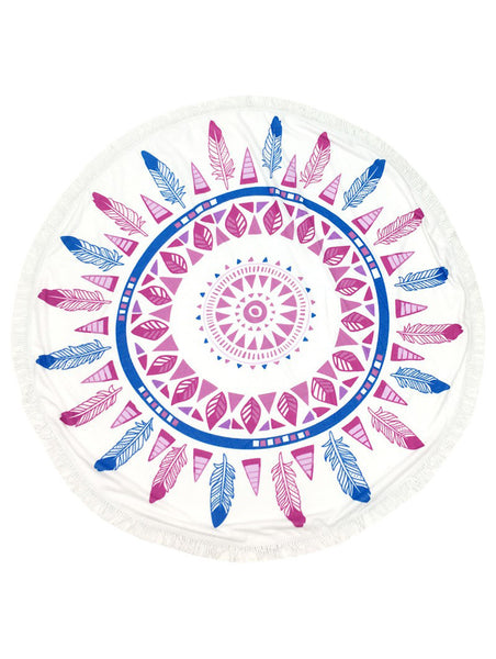 Mandala Feather Fringe Towel Tapestry