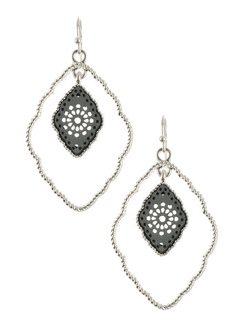 Gypsy Rush Gray Earrings