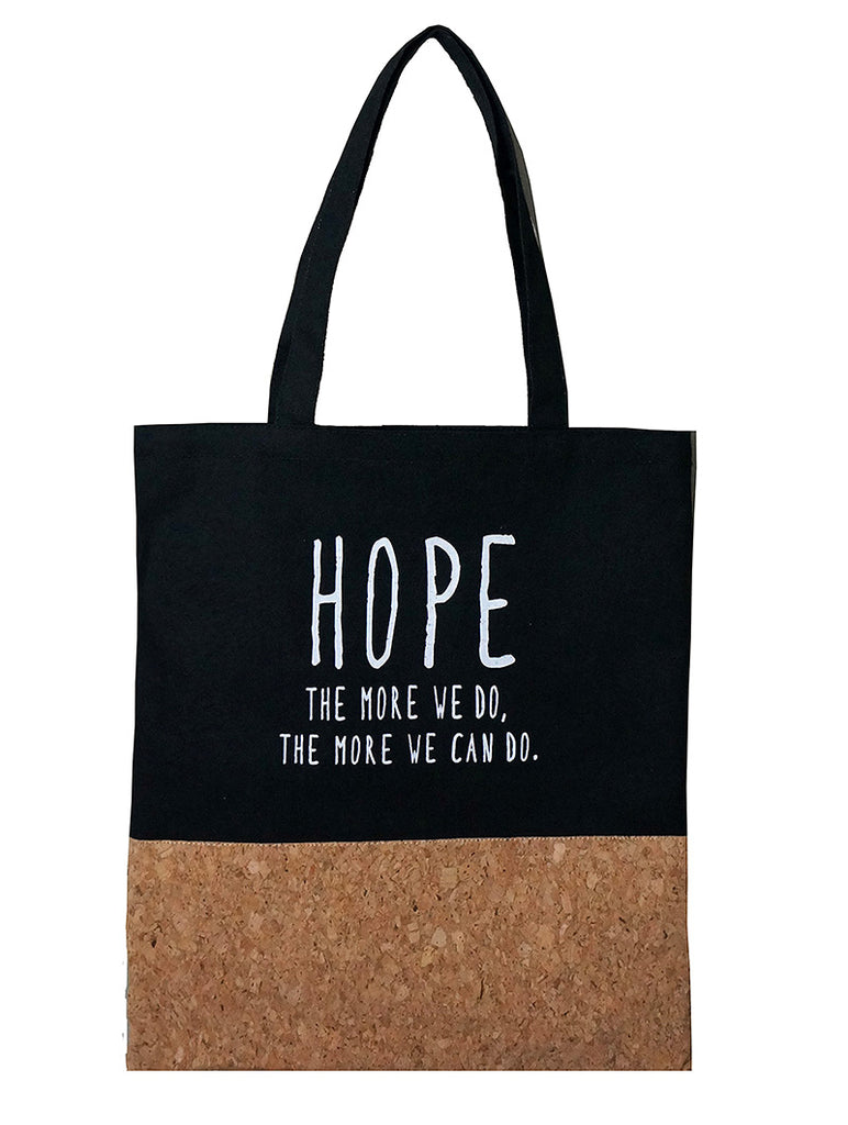 Hope Canvas Tote Black
