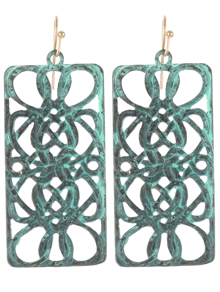 Gypsy Child Turquoise Filigree Earring