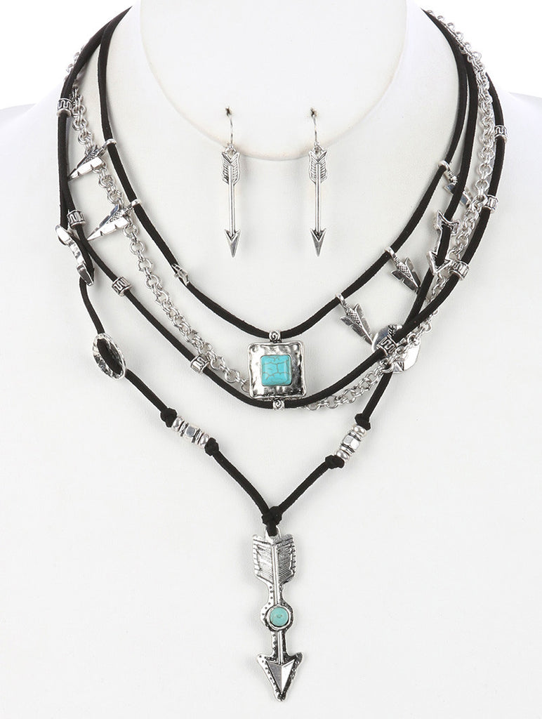 Gypsy Eclipse Arrow Layered Necklace
