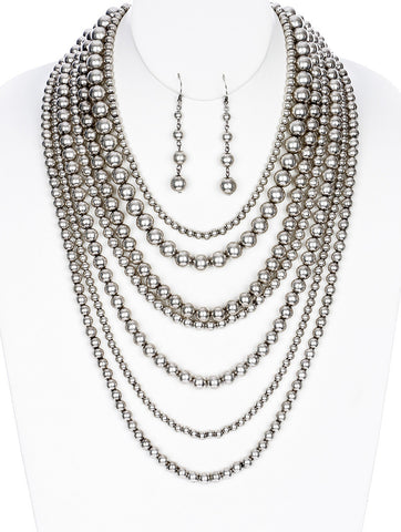 Gypsy Eclipse Lucite Multi Layer Necklace