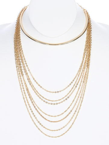 Gypsy Gold Choker Multi-Layer Necklace