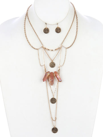 Gypsy Rose Stone Layered Necklace