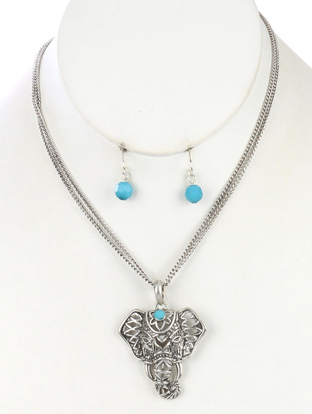 Ganesha Silver Elephant Necklace