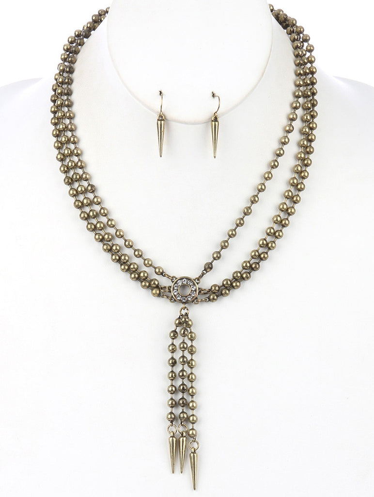 Gypsy Chain Spike Layered Necklace