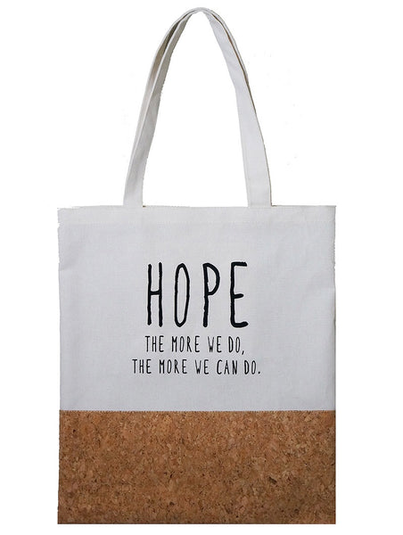 Hope White + Cork Canvas Tote