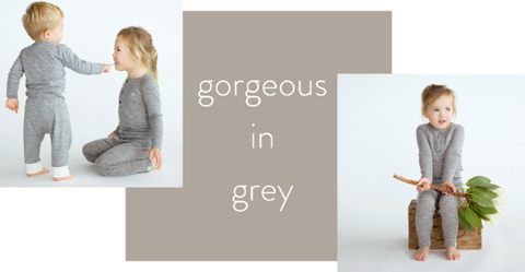 grey organic merino top and leggings