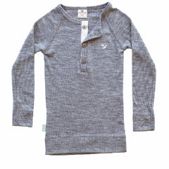 grey organic merino long sleeve top
