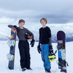 tween boys enjoying the snow
