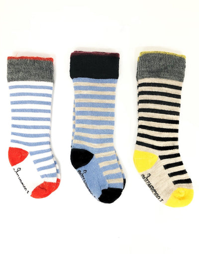 stripe merino wool socks