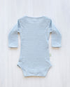 stripe blue merino bodysuit
