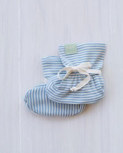 stripe north sea blue booties