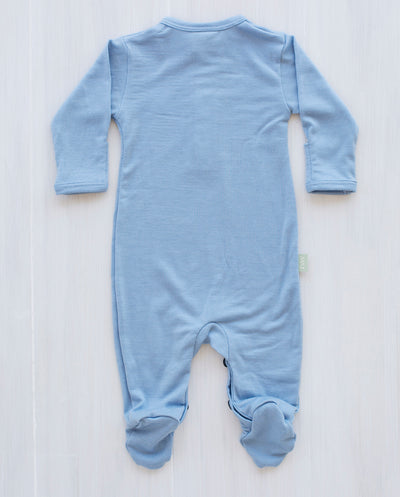 north sea blue merino baby jumpsuit