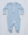 stripe blue merino jumpsuit for toddlers